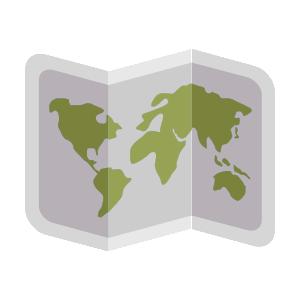 Digital Chart of the World Data Icono de archivo .dcw